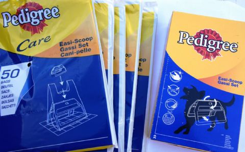 Doggie bags Easi Scoop and Refill Poop Bags X 5 PACKS
